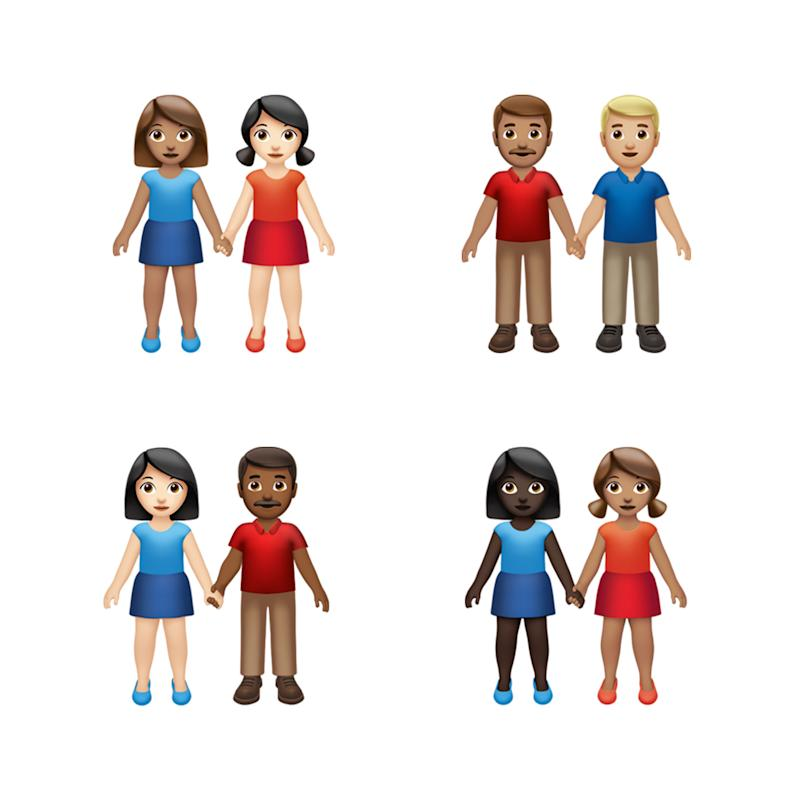More inclusion and diversity emoji. (PHOTO: Apple)