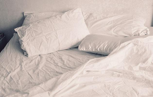 Wash your sheets every week. Photo: Getty