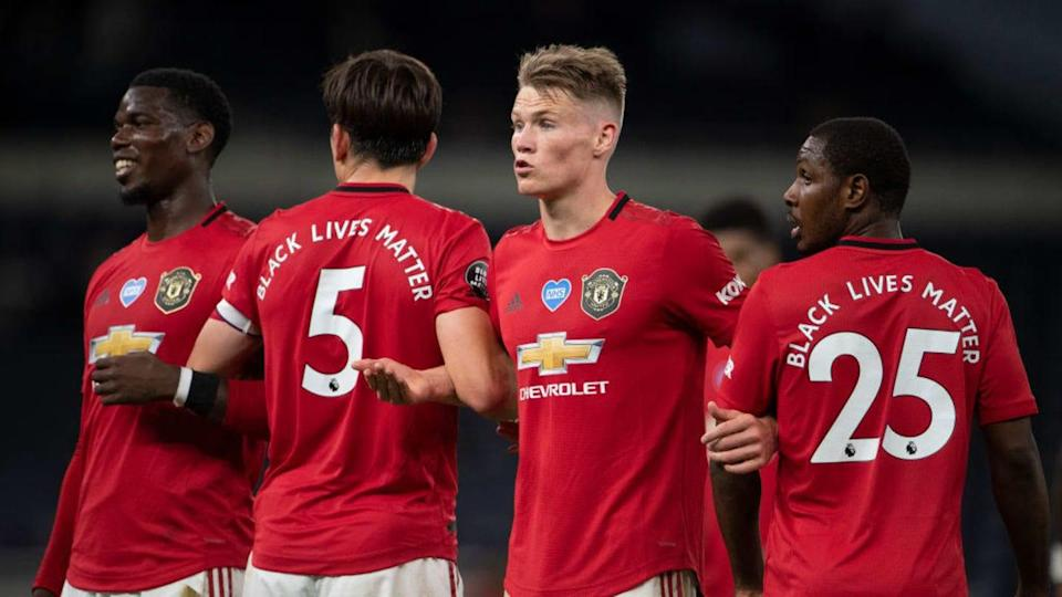 Scott McTominay, Paul Pogba, Maguire   Visionhaus/Getty Images