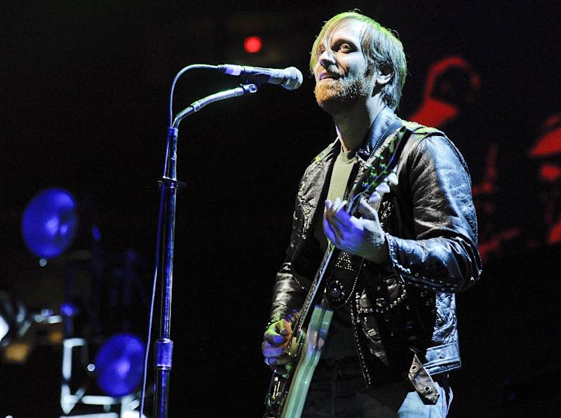 FILE - In this March 12, 2012 file photo, guitarist/vocalist Dan Auerbach of The Black Keys performs at Madison Square Garden in New York.  The Black Keys, Jack White and more than 30 other acts will hit the stage for the Firefly Music Festival at the Woodlands of Dover International Speedway in Delaware. The two-day festival kicks off July 20 through July 22, and also features John Legend, Death Cab for Cutie and Lupe Fiasco. (AP Photo/Evan Agostini, File)