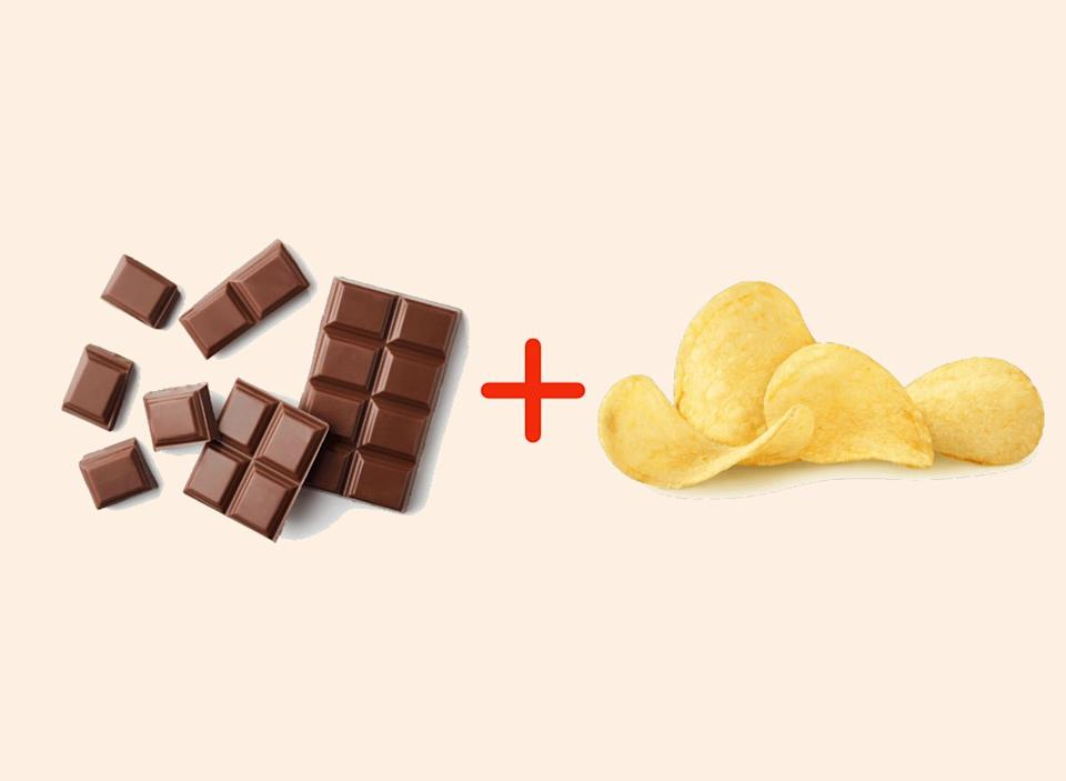 chocolate with potato chips amazing food pairings