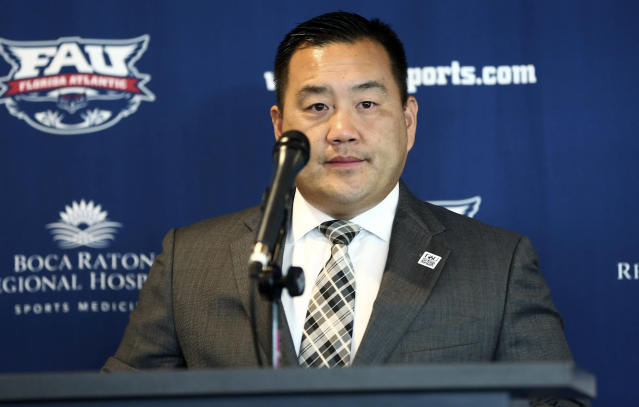"Patrick Chun took the Washington State job after nearly six years leading the FAU athletic department. (AP Photo/J <a class=""link rapid-noclick-resp"" href=""/ncaaf/players/218930/"" data-ylk=""slk:Pat Carter"">Pat Carter</a>, File)"