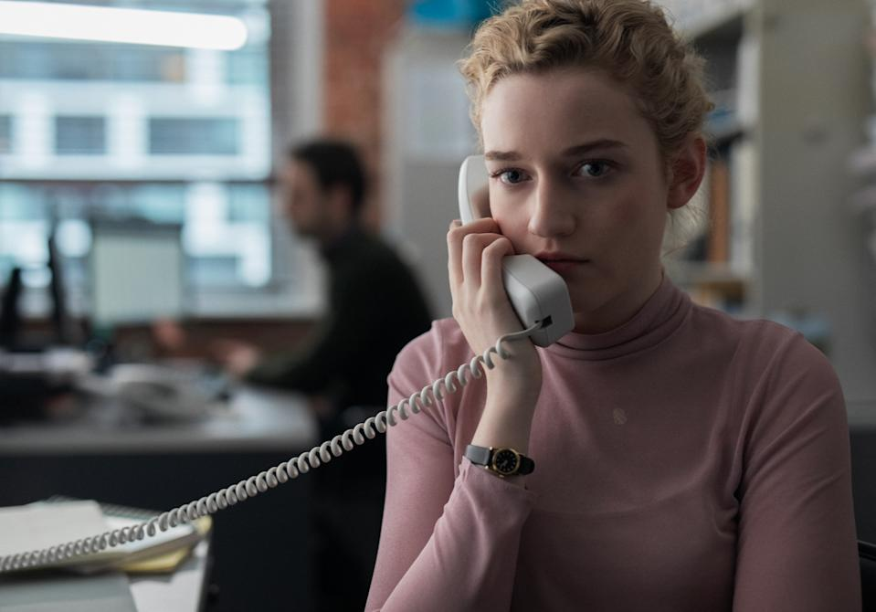 Julia Garner stars in 'The Assistant,' a movie inspired by the Harvey Weinstein story (Photo: Ty Johnson / Bleecker Street)