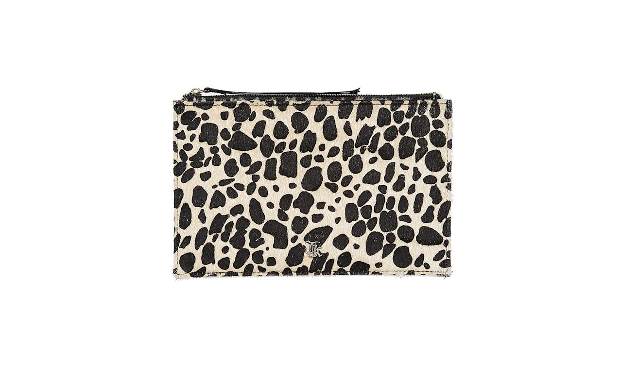 "<p>Clutch, $65, <a rel=""nofollow"" href=""https://www.thekooples.com/us/peta-clutch.html"">thekooples.com</a> </p>"