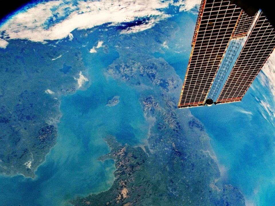 The UK looks stunning as it is captured by cameras aboard the International Space Station (ISS) (PA)