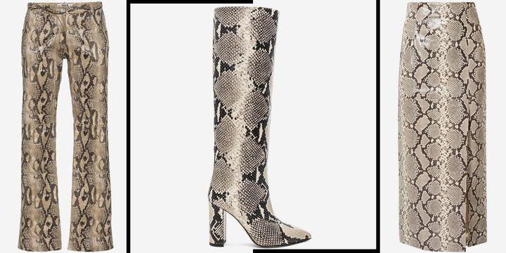 Shop the Snakeskin Print Trend We're Going All In On