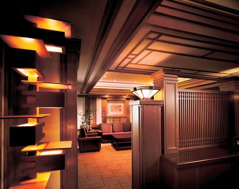 Wright's inviting legacy at the Imperial Hotel in Tokyo.