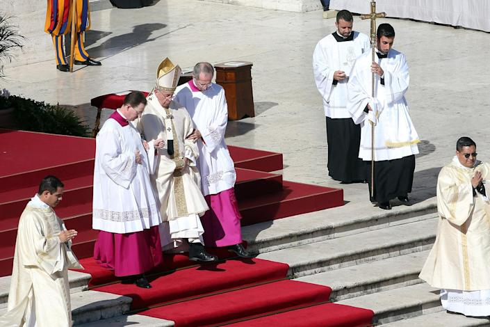 Pope Francis leads a Canonization Ceremony