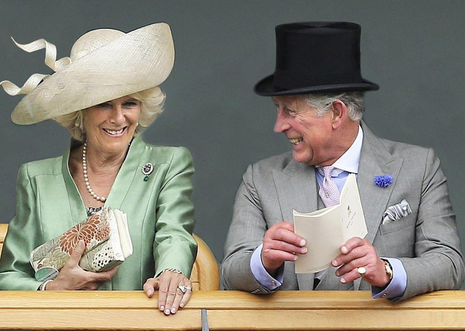 "<p>The royal couple clearly liked this photo, which was taken on the second day of Royal Ascot in 2013. They used it in <a href=""https://www.townandcountrymag.com/society/tradition/g14424642/royal-family-christmas-cards/"" rel=""nofollow noopener"" target=""_blank"" data-ylk=""slk:their Christmas card that year"" class=""link rapid-noclick-resp"">their Christmas card that year</a>.</p>"