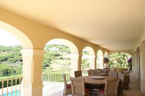 The terrace at the Sotogrande house.