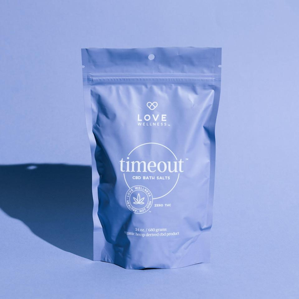 """<h3><strong>Love Wellness</strong> Timeout CBD Bath Salts</h3>Haven't slept more than five hours all week? Your body deserves a time out — literally — with these soothing bath salts, which use a hemp-derived CBD and eucalyptus oil to calm you TF down.<br><br><strong>Product not found</strong><br><br><strong>Love Wellness</strong> Timeout CBD Bath Salts, $, available at <a href=""""https://go.skimresources.com/?id=30283X879131&url=https%3A%2F%2Fcbd.lovewellness.co%2Fcollections%2Ffrontpage%2Fproducts%2Ftimeout-bath-salts"""" rel=""""nofollow noopener"""" target=""""_blank"""" data-ylk=""""slk:Love Wellness"""" class=""""link rapid-noclick-resp"""">Love Wellness</a>"""