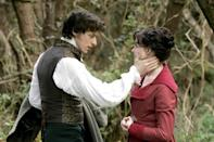 "<p>If <strong>Becoming Jane</strong> is to be believed, <strong>Pride and Prejudice</strong> was inspired by Jane Austen's own doomed love affair with the rakish, romantic Tom Lefroy. In reality, it's more the other way around: the movie borrows from Austen's most popular novel to embellish what little is known about her real-life romantic affair.</p> <p><a href=""https://www.hbomax.com/feature/urn:hbo:feature:GXl54NAnP154_wwEAACV0"" class=""link rapid-noclick-resp"" rel=""nofollow noopener"" target=""_blank"" data-ylk=""slk:Watch Becoming Jane on HBO Max"">Watch <strong>Becoming Jane</strong> on HBO Max</a>.</p>"