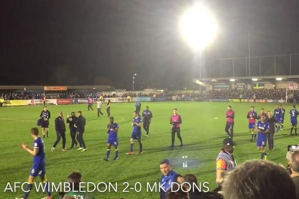 Paul Robinson and AFC Wimbledon fans reflect on their historic victory over MK Dons