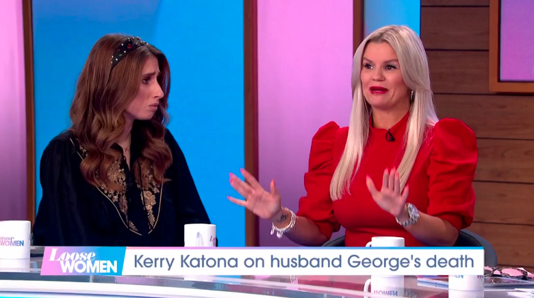 Kerry Katona spoke to Loose Women about the death of her husband George Kay (Credit: ITV)