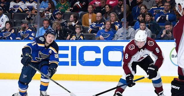 Colorado Avalanche Suffer First Regulation Loss in 3-1 defeat to St. Louis Blues