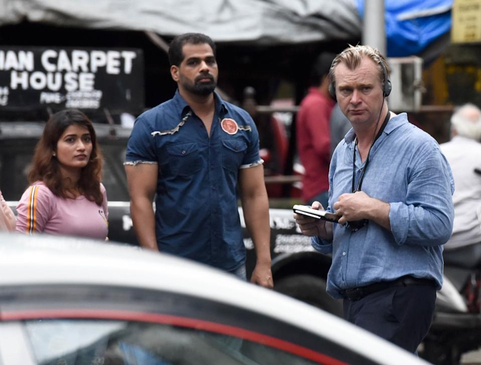 MUMBAI, INDIA - SEPTEMBER 17: Hollywood filmmaker Christopher Nolan spotted shooting for next film 'Tenet' near Taj Hotel, Colaba, on September 17, 2019 in Mumbai, India. (Photo by Kunal Patil/Hindustan Times via Getty Images)