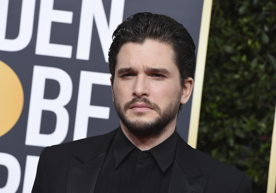 Kit Harington arrives at the 77th annual Golden Globe Awards at the Beverly Hilton Hotel on Sunday, Jan. 5, 2020, in Beverly Hills, Calif. (Photo by Jordan Strauss/Invision/AP)