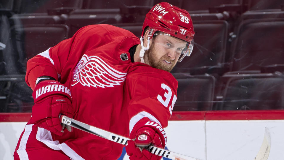 Anthony Mantha is heading to Washington in a deadline blockbuster. (Photo by Dave Reginek/NHLI via Getty Images)
