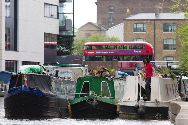 Even more expensive boats, which can cost over £100,000, are still a fraction of the average London house price of £500,000, up 11 percent in a year (AFP Photo/Justin Tallis)