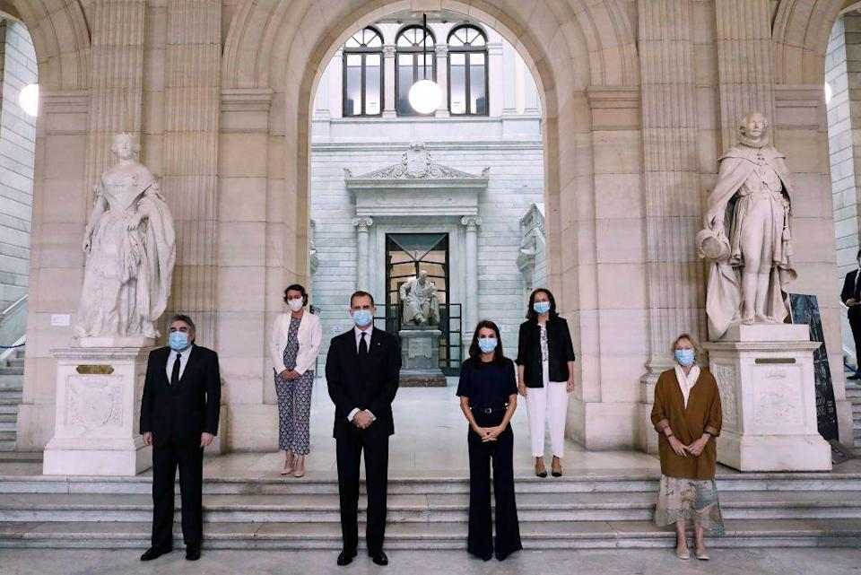 <p>In early June, King Felipe and Queen Letizia of Spain wore masks during a visit the National Library.</p>
