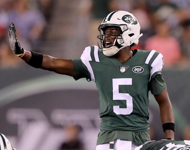 Teddy Bridgewater was traded by the New York Jets to New Orleans on August 29, 2018 (AFP Photo/ELSA)