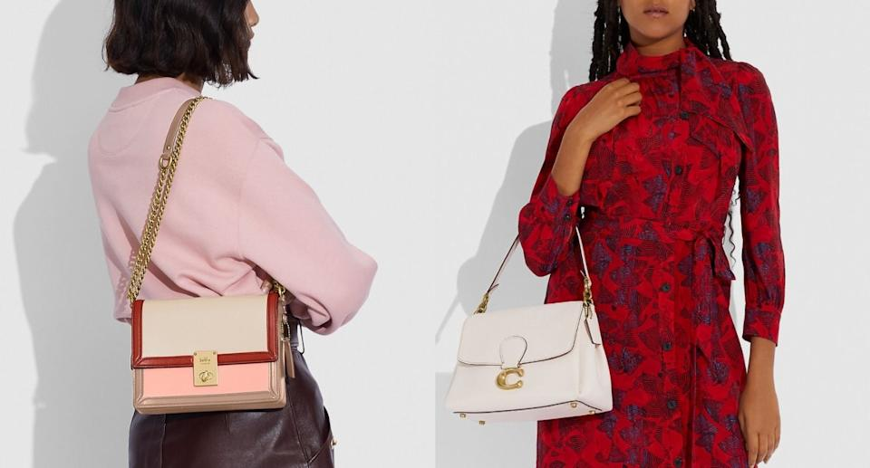 Coach Canada's sale section includes these discounted looks for fall (Images via Coach Canada)