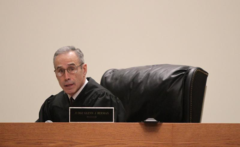 Judge Glenn Berman instructs the jury on the law before they begin their deliberations during the trial of Dharun Ravi at the Middlesex County Courthouse in New Brunswick, N.J. on Wednesday, March 14, 2012. Ravi is accused of using a webcam to spy on his roommate, Tyler Clementi, intimate encounter with another man. Days later Clementi committed suicide. Ravi, 19, faces 15 criminal charges, including invasion of privacy and bias intimidation, a hate crime punishable by up to 10 years in state prison. (AP Photo/The Star-Ledger, John O'Boyle, Pool)