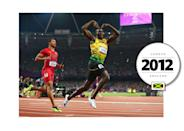 Usain Bolt is considered the fastest man alive. Bolt has a very big personality — and always reps his country's colors (green, yellow, and black) while on the track. (Getty Images)