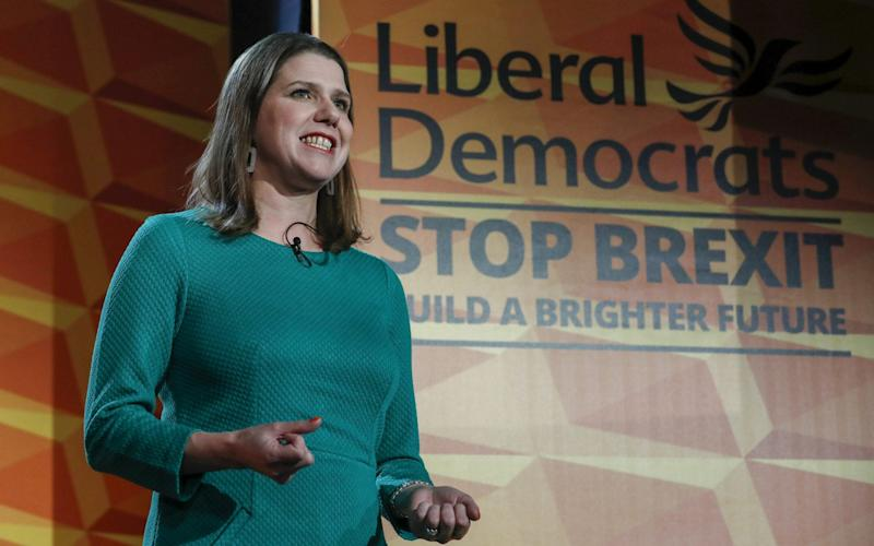 Jo Swinson, leader of the Liberal Democrats party, launched the party's general election manifesto on Wednesday - Bloomberg