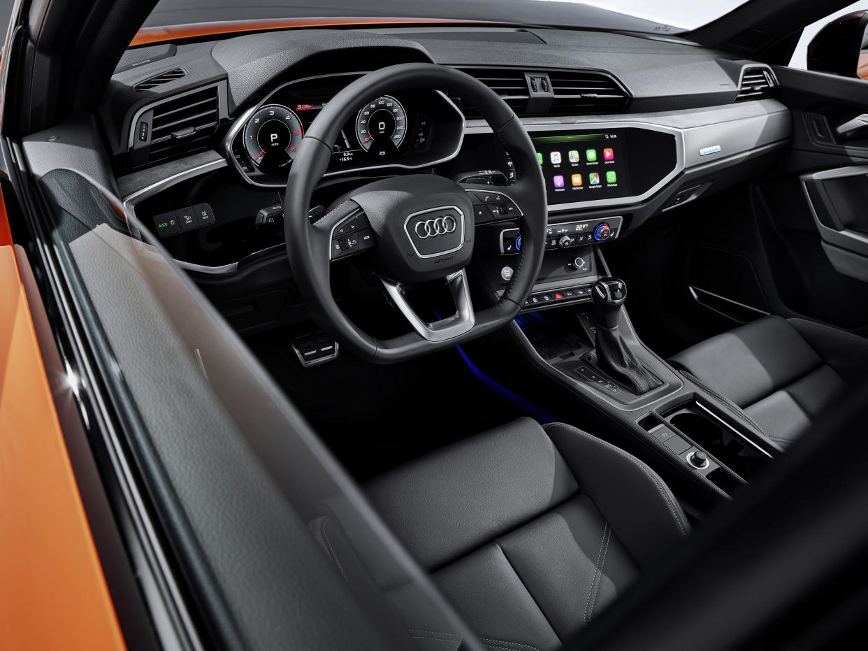 The Sportback's interior is largely the same as the regular Q3's