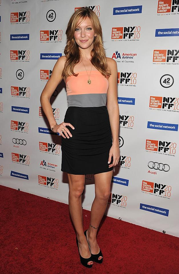 """<a href=""""http://movies.yahoo.com/movie/contributor/1809100844"""">Katie Cassidy</a> at the New York City premiere of <a href=""""http://movies.yahoo.com/movie/1810128131/info"""">The Social Network</a> on September 24, 2010."""