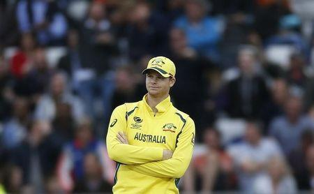 Britain Cricket - England v Australia - 2017 ICC Champions Trophy Group A - Edgbaston - June 10, 2017 Australia's Captain Steve Smith looks dejected Action Images via Reuters / Paul Childs Livepic EDITORIAL USE ONLY