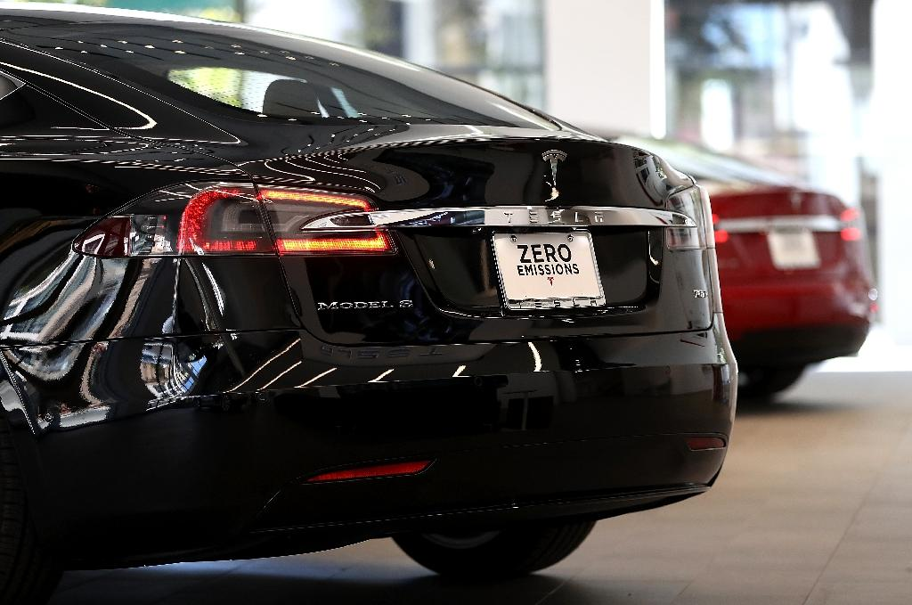Norway, where electric cars are exempt from taxes, is one of Tesla's biggest markets (AFP Photo/Justin Sullivan)