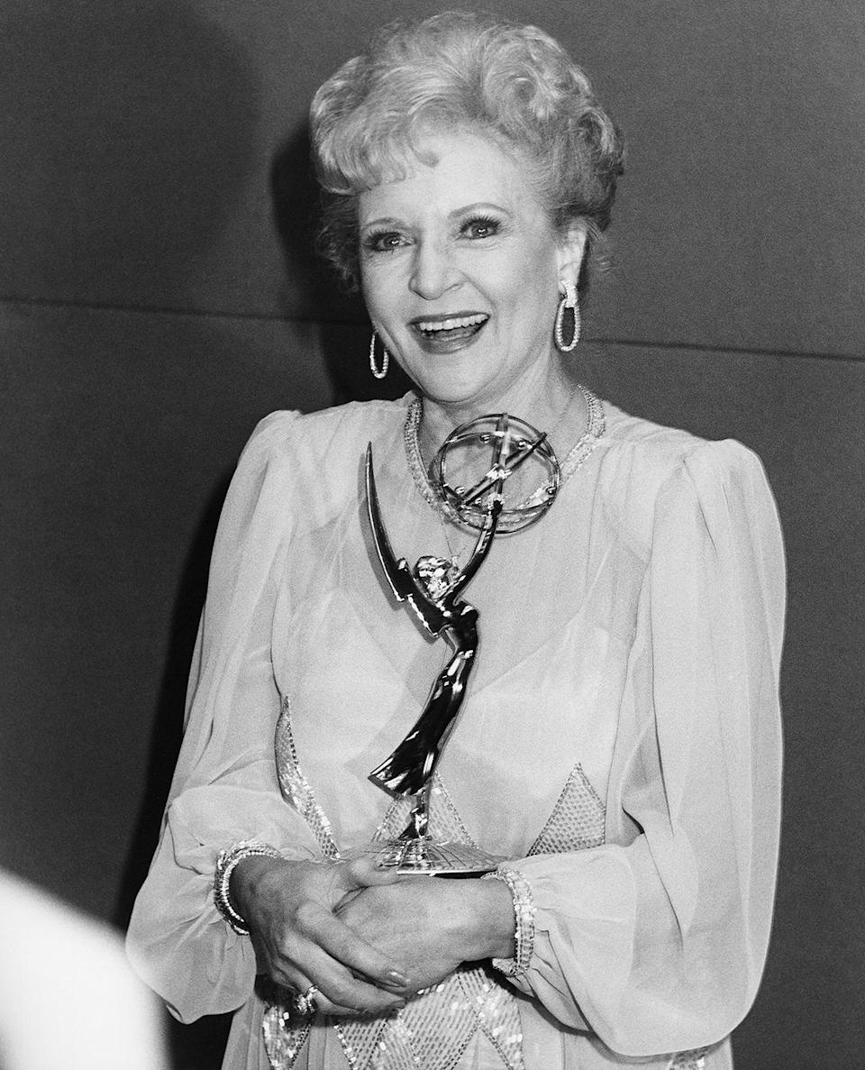 <p>In 1986, White won an Emmy for outstanding actress in a comedy series for her role in <em>Golden Girls</em>, and would go on to be nominated for the role six more times. </p>