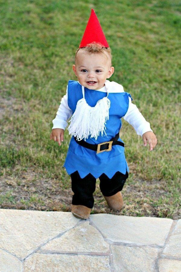 """<p>There's <em>gnome</em> getting around the fact that your little one will look absolutely darling dressed as a mini lawn fixture. </p><p><strong>Get the tutorial at <a href=""""https://foodfolksandfun.net/diy-boy-garden-gnome-costume/"""" rel=""""nofollow noopener"""" target=""""_blank"""" data-ylk=""""slk:Food Folks and Fun"""" class=""""link rapid-noclick-resp"""">Food Folks and Fun</a>.</strong></p><p><strong><a class=""""link rapid-noclick-resp"""" href=""""https://www.amazon.com/Acrylic-Felt-Sheet-12-PCS/dp/B00O29V75W/?tag=syn-yahoo-20&ascsubtag=%5Bartid%7C10050.g.4975%5Bsrc%7Cyahoo-us"""" rel=""""nofollow noopener"""" target=""""_blank"""" data-ylk=""""slk:SHOP RED FELT"""">SHOP RED FELT</a><br></strong></p>"""