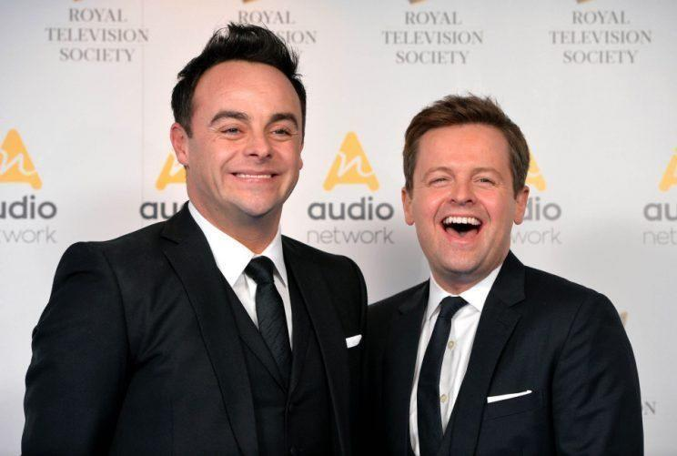 Ant with his co-star, Declan Donnelly.