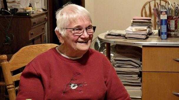 PHOTO: Lifelong Republican Revelyn Lonning of Waukon, Iowa, says she is keeping an open mind about the candidates in the 2020 presidential race.  The retired 911 dispatcher and jailer voted for Donald Trump in 2016. (ABC News )