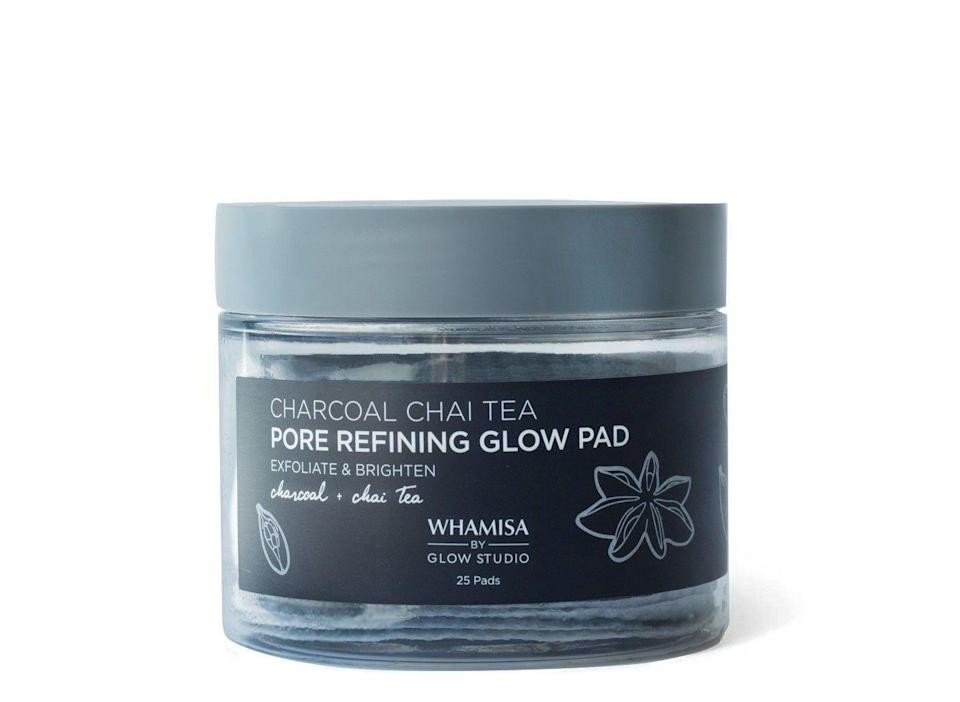 """<p>Although charcoal and chai sounds a lot like a trendy L.A. beverage, this combination is strictly for your pores — or, rather, <em>purging</em> your pores.</p><br><br><strong>Whamisa By Glow Recipe</strong> Charcoal Chai Pore Refining Glow Pad Facial Treatment, $24.99, available at <a href=""""https://www.target.com/p/whamisa-by-glow-studio-charcoal-chai-pore-refining-glow-pad-facial-treatment-25ct-6-24-oz/-/A-53463602"""" rel=""""nofollow noopener"""" target=""""_blank"""" data-ylk=""""slk:Target"""" class=""""link rapid-noclick-resp"""">Target</a>"""