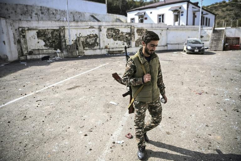 Witnesses said rockets and cluster bombs hit the hospital near the mostly-abandoned northeast village of Martakert late on Wednesday