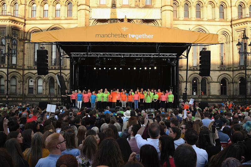 Local choirs came together to perform at the concert (Getty Images)
