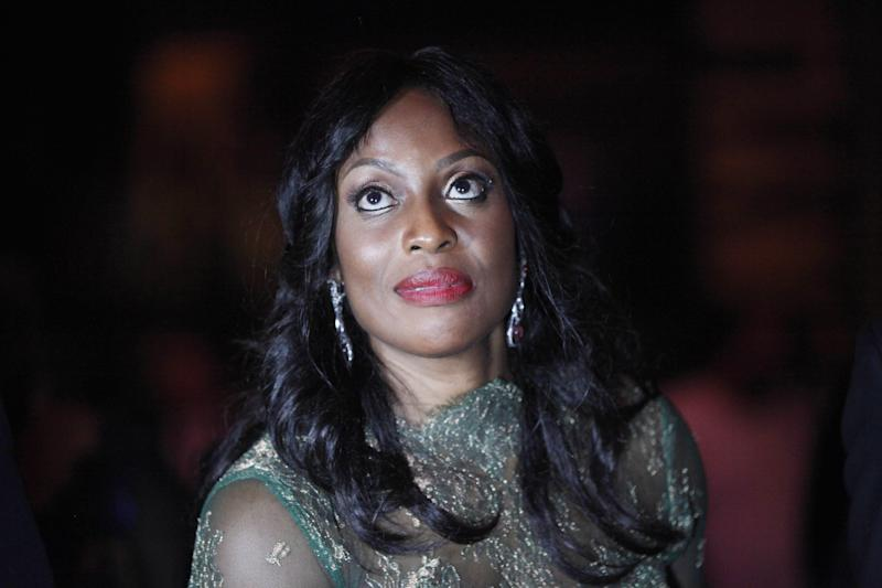 "In this photo taken on Sunday June 30, 2013, Mo Abudu, chief executive officer of EbonyLife TV, attends the launch of Africa's first global black entertainment network in Lagos, Nigeria. Mo Abudu, who could be considered Africa's Oprah Winfrey, is launching an entertainment network that will be beamed into nearly every country on the continent with programs showcasing its burgeoning middle class. Mosunmola ""Mo"" Abudu wants EbonyLife TV to inspire Africans and the rest of the world, and change how viewers perceive the continent. (AP Photo/Sunday Alamba)"