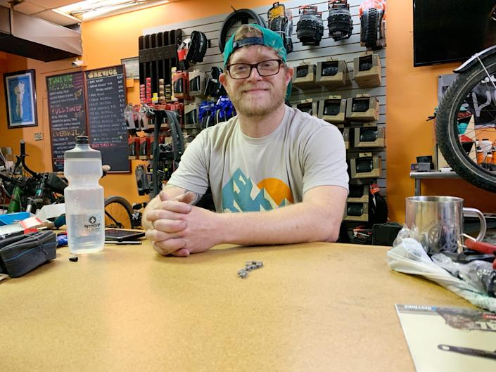 """Christian Goatley, manager of Gear Up Cycles, says the most important thing for beginning bikers is information. """"Visit a local shop and ask questions,"""" he says."""