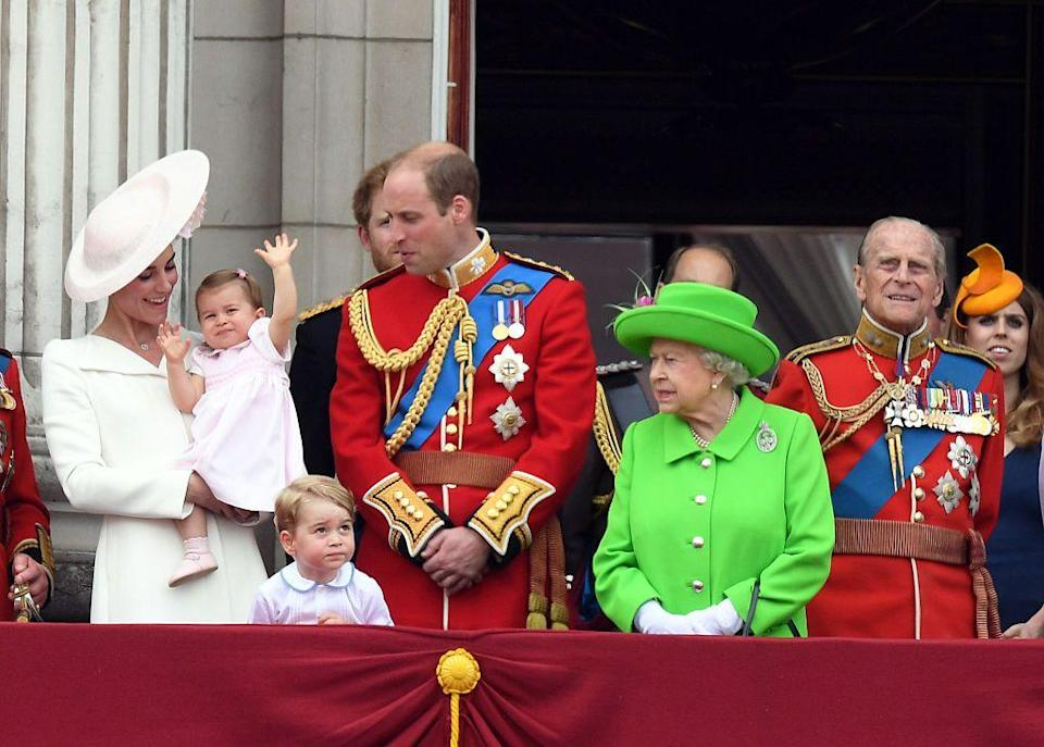 """<p>Celebrations are held for the Queen Elizabeth's <a href=""""https://www.townandcountrymag.com/society/tradition/news/g2352/queen-90th-birthday-party-pictures/"""" rel=""""nofollow noopener"""" target=""""_blank"""" data-ylk=""""slk:90th Birthday"""" class=""""link rapid-noclick-resp"""">90th Birthday</a>, but it's her coat (and her great-grandchildren) that end up grabbing headlines.</p>"""