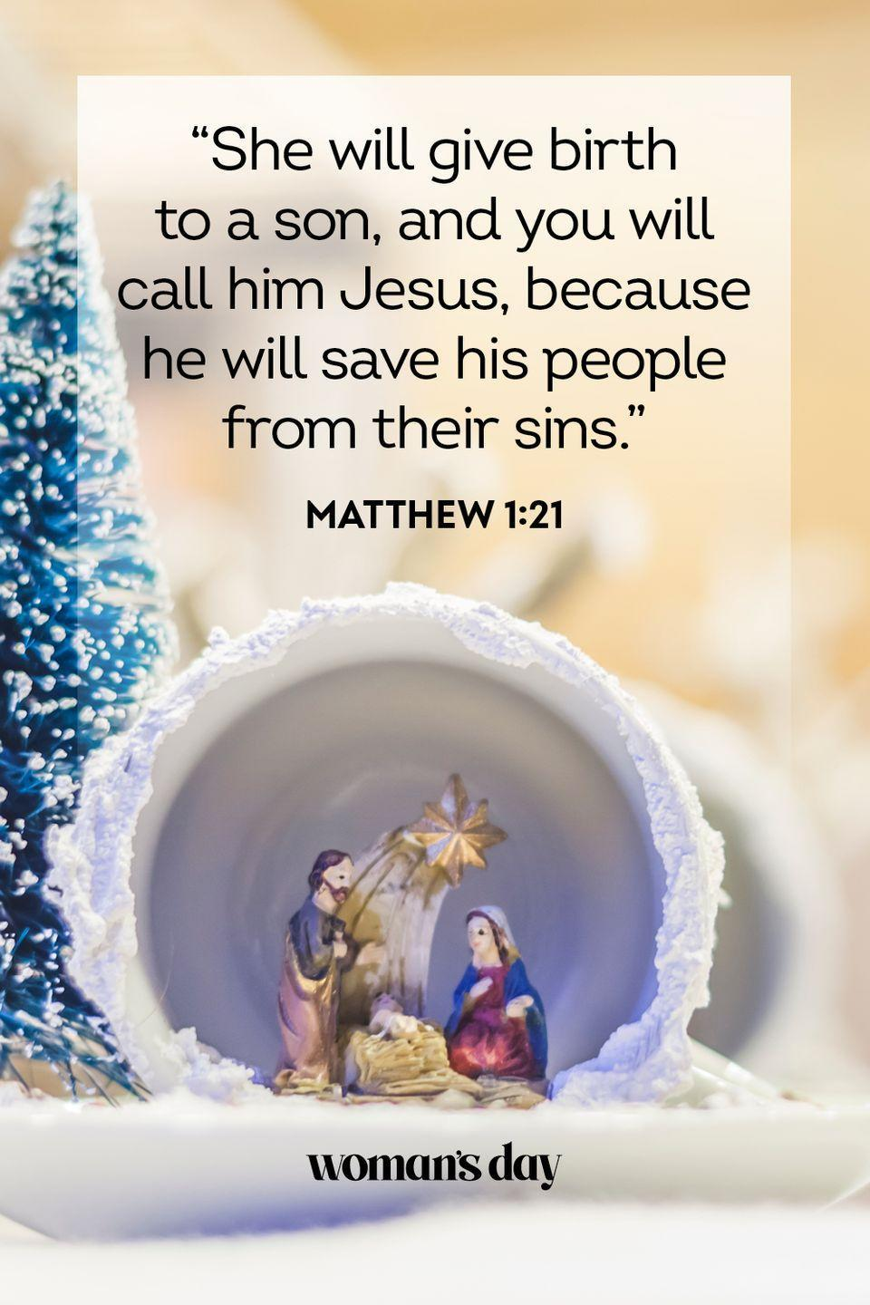 Pack of 24 Scenes from Scripture Religious Christmas Cards with Bible Verses