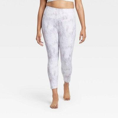 """<h3><h2>All In Motion Contour Power Waist High-Rise 7/8 Leggings</h2></h3><br><strong><em>Overall Score: 3.7<br></em></strong><br><strong>Stretch: 4.0</strong><br>Decently stretchy! The fabric felt thicker than I'd expected, but still had a lot of give to it. <br><strong><br>Sweat wicking: 3.3</strong><br>I sweat a lot when working out, so moisture-wicking fabric is key when it comes to what I'm looking for in my leggings. I got the matching bra to this set, and there was definitely some boob- and lower back-sweat by the end of my workout. Not terrible (also, reminder that sweating is a totally normal thing!), but if you're looking for something that'll hold its own during hot yoga, then this might not be the one for you. <br><br><em>— Karina</em><br><br><strong>All in Motion</strong> Contour Power Waist High-Rise 7/8 Leggings, $, available at <a href=""""https://go.skimresources.com/?id=30283X879131&url=https%3A%2F%2Fgoto.target.com%2FDjRO5"""" rel=""""nofollow noopener"""" target=""""_blank"""" data-ylk=""""slk:Target"""" class=""""link rapid-noclick-resp"""">Target</a>"""