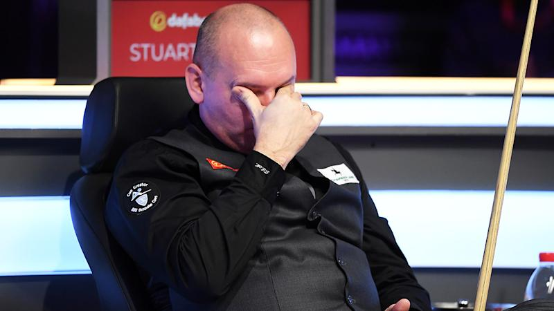 Stuart Bingham, pictured reacting during the final of The Masters against Ali Carter.