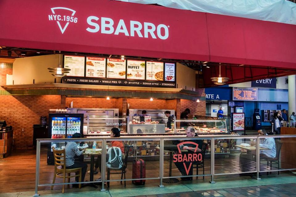 sbarro pizza stand in an airport