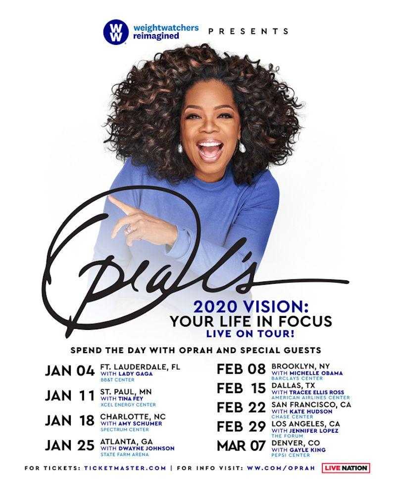 oprah 2020 vision tour Oprahs 2020 Vision Tour to feature special guests Michelle Obama, Lady Gaga, more
