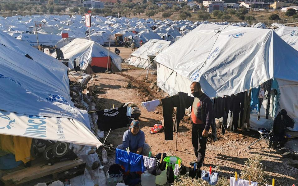 Kara Tepe is now Lesbos' main migrant camp - ANTHI PAZIANOU/AFP via Getty Images