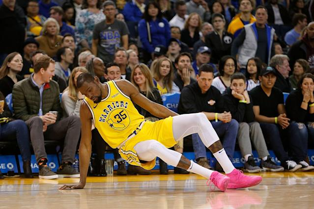 Kevin Durant out with an ankle injury